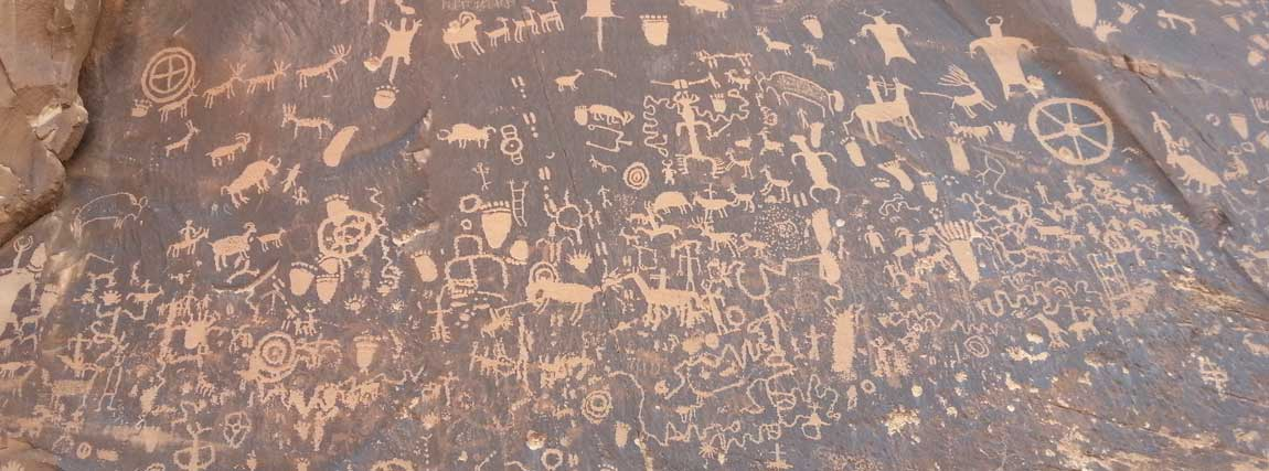 Newspaper Rock with Petroglyph