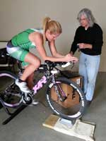 Coach Barry during a bike power and heart rate test with private BarryS