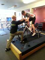 Bike fit expert, Hal, during a BarryS Coaching Client bike fit