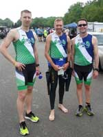 Coach Mike with BarryS Coaching clients Neil & Kevin pre-race