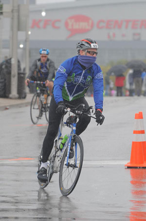 On the Ironman Louisville Bike Course